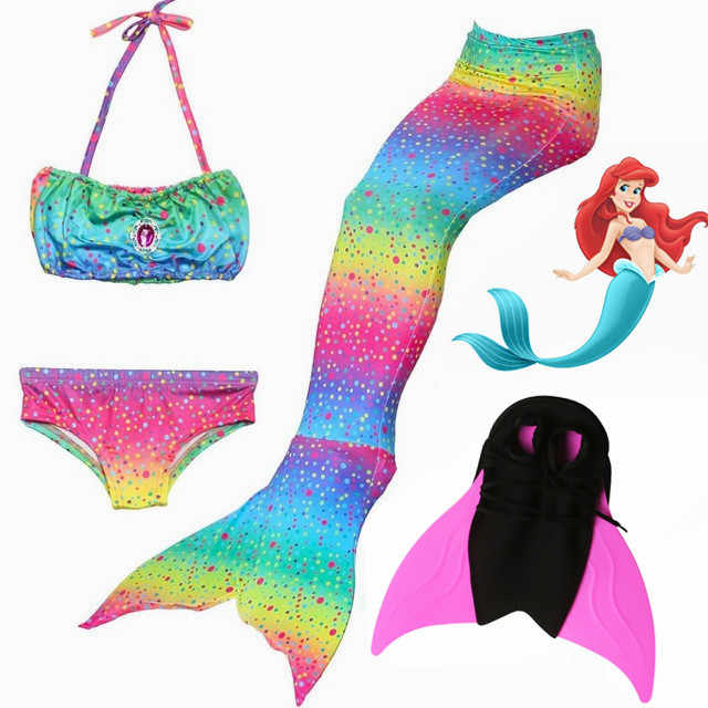 2c85394f63448 2018 HOT mermaid tails with fins monofin flipper kids girls swimming  mermaid tails swimsuits for girls