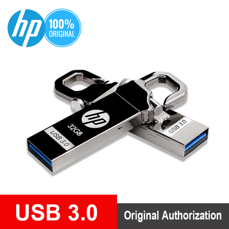 HP USB Flash Drive 64 GB Logam Flashdisk 32 GB Plus OTG DJ DIY LOGO Pen Drive 16 GB Cle USB 3.0 Flash Memory Stick 128 GB Dropship