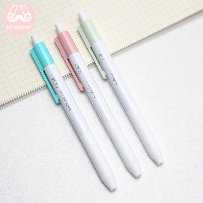 Mr Paper 3 Colors Pink Blue Green Erasable Gel Pens for School Kawaii Student Creative Stationery Colorful 0 5mm B Gel Pens in Gel Pens from Office School Supplies