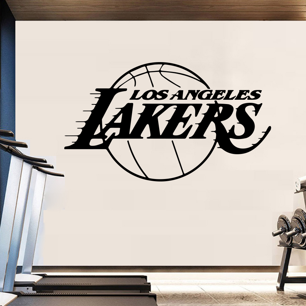 Basketball team design wall sticker for home decor living room decoration boys bedroom wall decal stickers