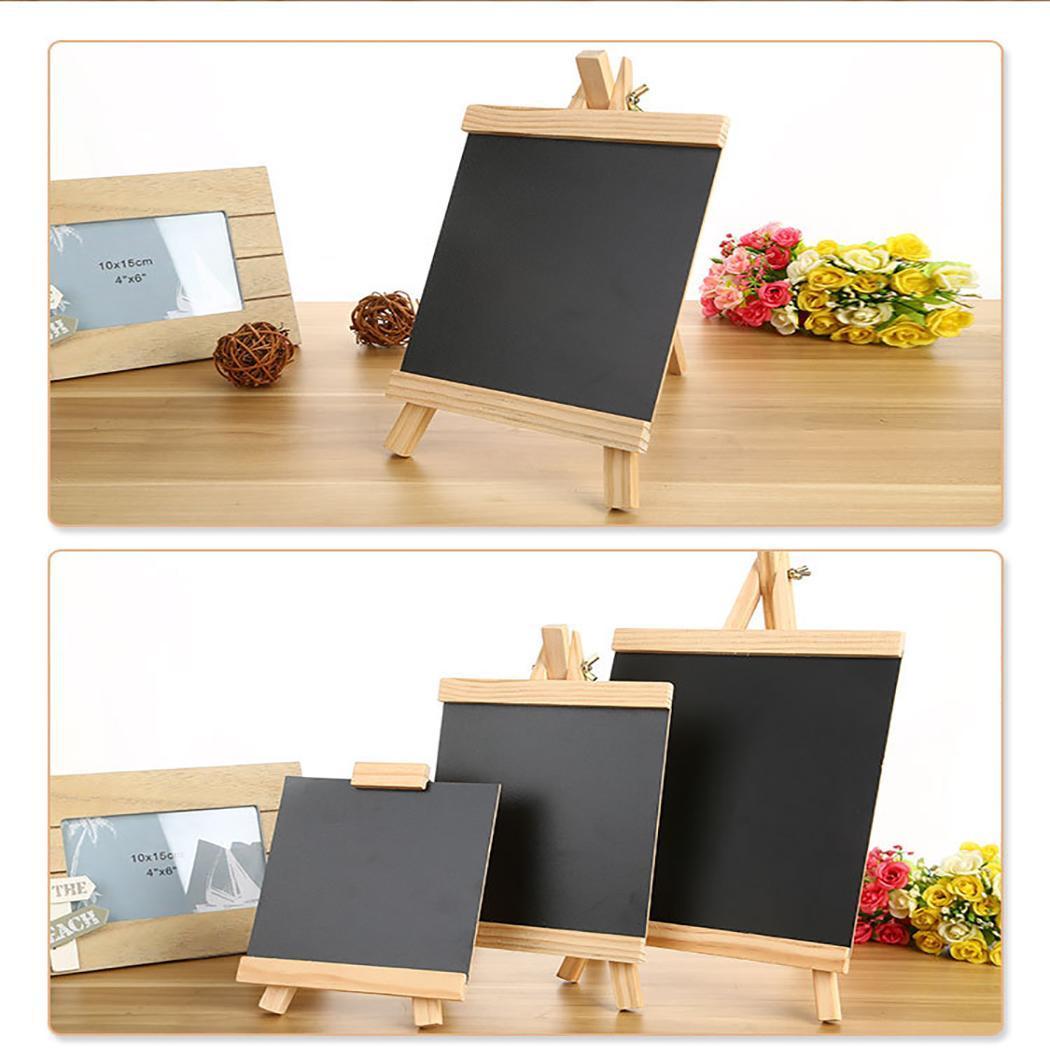 Adjustable Wooden Blackboard Desktop Message Bulletin Durable Drawing Board