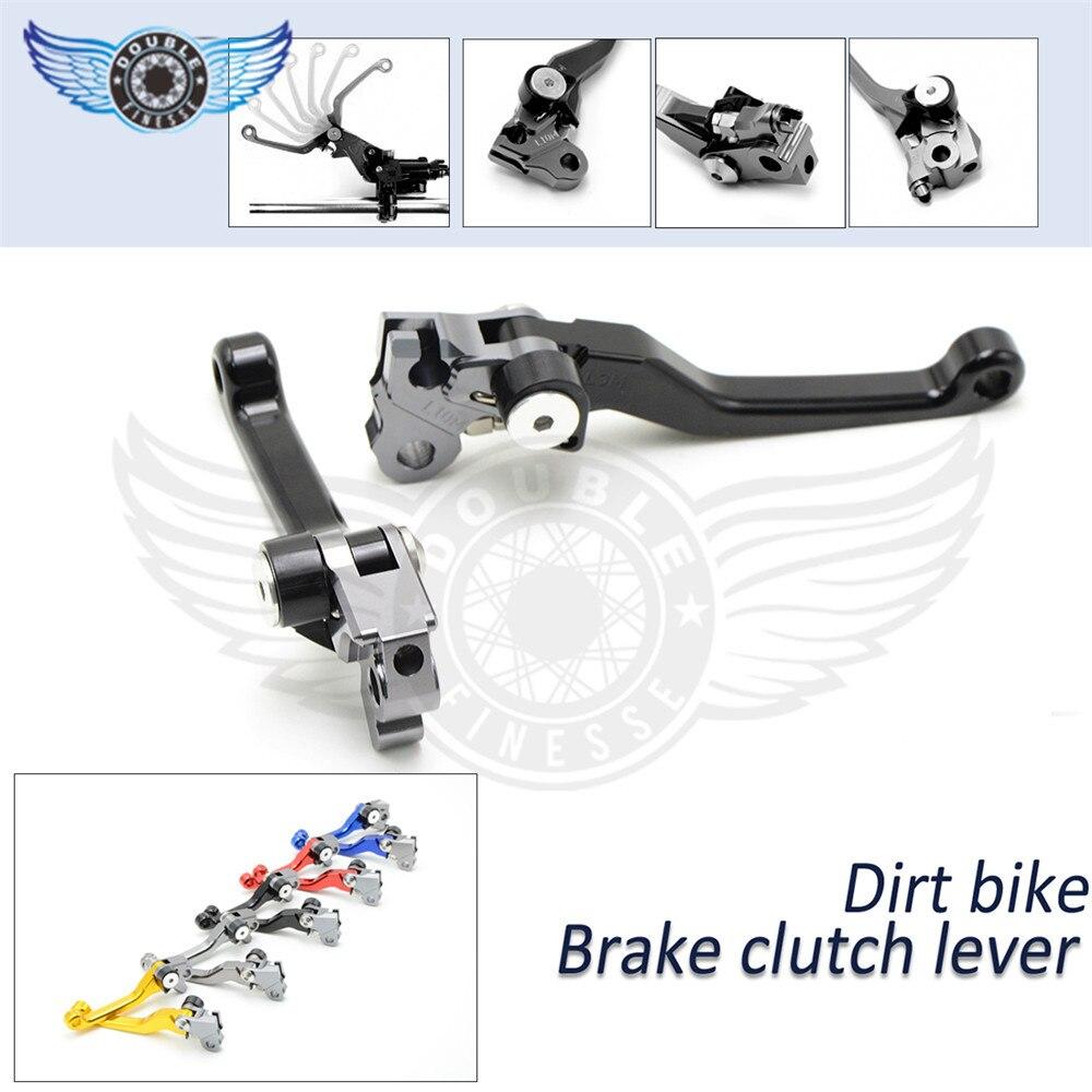 ФОТО CNC Aluminum Billet Pivot Foldable Brake Clutch Levers For Yamaha WR250F WR450F 2005-2015 Motocross Motorcycle Dirt Bike