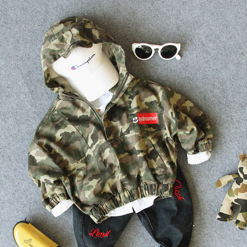 2-7Y new 2019 spring boys casual camouflage jacket with hood fashion style fall boys jacket with hood kids clothing2-7Y new 2019 spring boys casual camouflage jacket with hood fashion style fall boys jacket with hood kids clothing