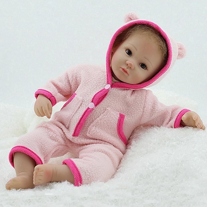 Reborn Baby Doll Soft Silicone Lifelike Adorable Newborn Babies Doll Toy 17 inch Fashion Girls Gift Baby playmate Christmas GiftReborn Baby Doll Soft Silicone Lifelike Adorable Newborn Babies Doll Toy 17 inch Fashion Girls Gift Baby playmate Christmas Gift