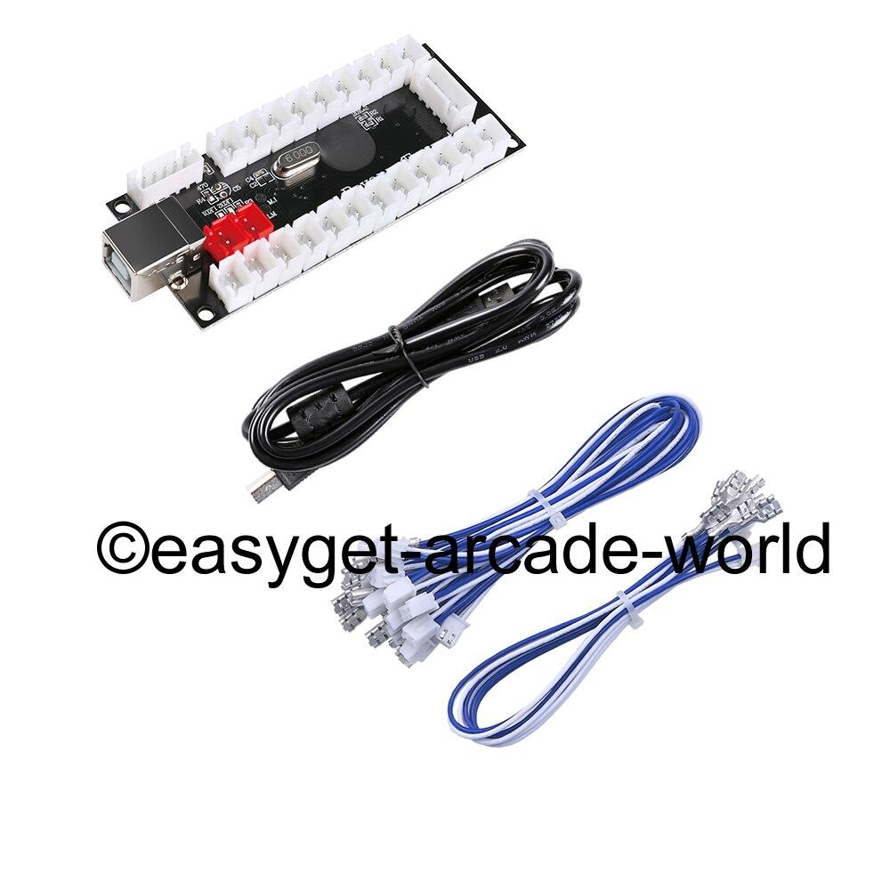 9c13c3187 Novo Zero Atraso USB PC Joystick Pcb Controles USB Para Jogos MAME &
