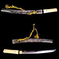 Genuine Rayskin Japanese tanto Samurai Sword Clay Tempered T10 Clay Tempered Blade Katana Full Tang Sharp