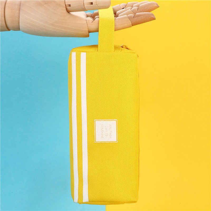 Kolorowe torby o dużej pojemności piórniki kreatywny Korea tkaniny pudełko na długopis etui szkolne materiały biurowe stacjonarne 05089