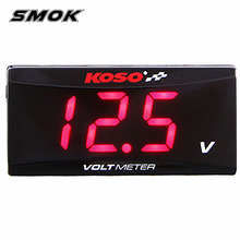 ФОТО motorcycle universal voltmeter, high quality voltmeter, suitable for scooters and racing motor