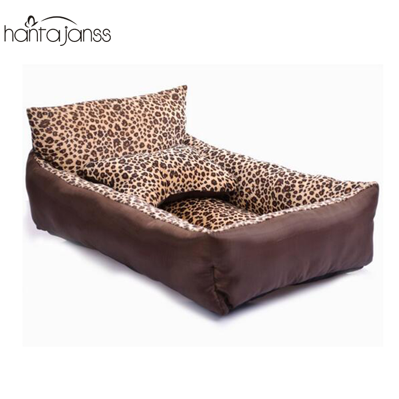 hantajanss small dog bed with bone pillow sofa dog mat pet seat cover kennels washable cat nest