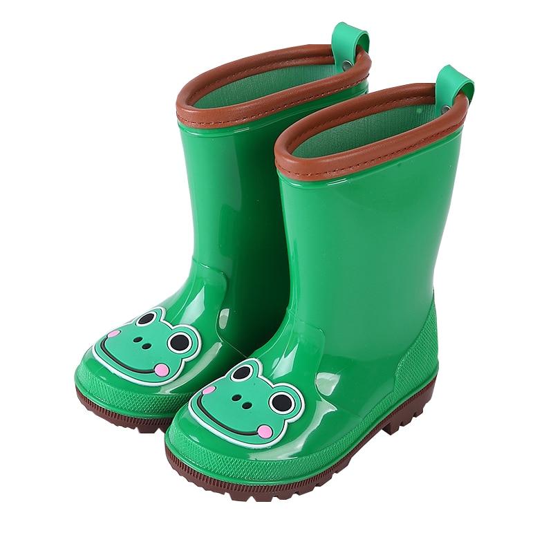 Mioigee 2018 New Rain Boots Kids Antislip Children Shoes Rainboots Boys Girls Shoes Cute Waterproof RainBoots Anti-skid Shoes стоимость