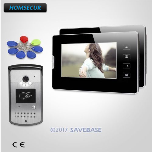 HOMSECUR 7inch Video Door Entry Phone Call System with Touch Panel Monitor for Apartment homsecur 9inch wired video door entry phone call system black camera for apartment