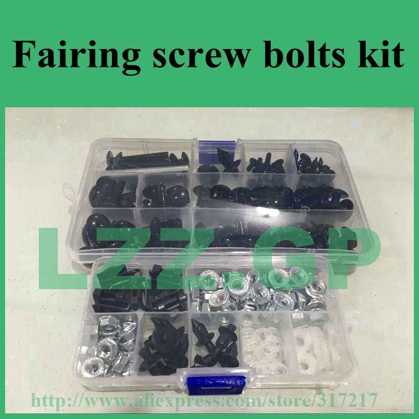 Fairing bolts kit For KAWASAKI Ninja ZX6R ZX-6R 2007 2008 07 08 Body Fairing Bolt Screw Fastener Fixation Kit K-28