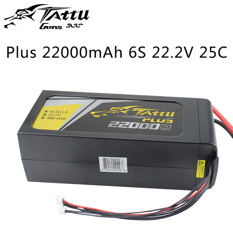Tattu Plus <font><b>22000mAh</b></font> 22.2V 25C 6S1P <font><b>LiPo</b></font> Smart Battery Pack with AS150 + XT150 Plug for UAV Medical Drone image