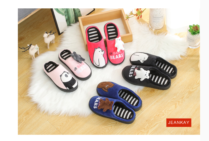 Оптовая продажа; Рождественская зимняя обувь с трехмерным рисунком милого медведя; обувь для пар; обувь для мужчин и женщин; в наличии
