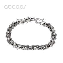 купить Vintage Heavy 925 Sterling Silver Link Bracelet for Men Boys 21cm Free Shipping дешево