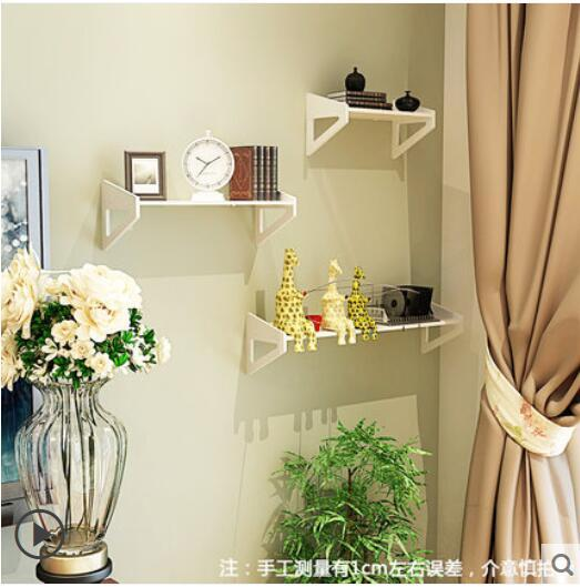 Wall Shelf Free Punching Bedroom Decoration Simple Flower Frame Wall ...