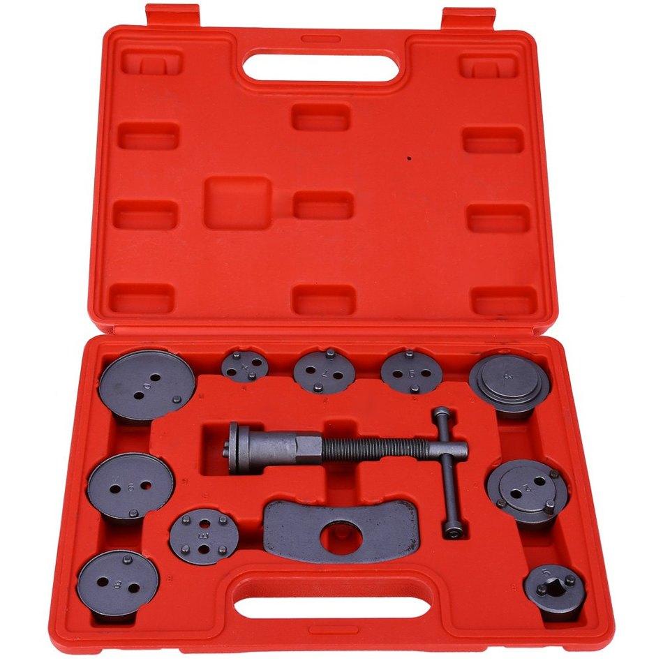 12pcs/Set Universal Car Disc Brake Caliper Wind Back Brake Piston Compressor Tool Kit For Most Automobiles Garage Repair Tools 38mm cylinder barrel piston kit