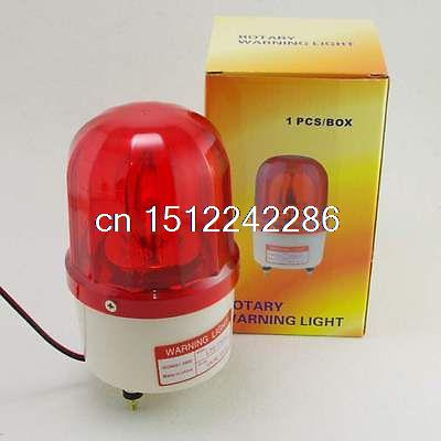 1PCS 220VAC Red Rotating Beacon Warning Light Lamp With Speaker Spiral Fixed