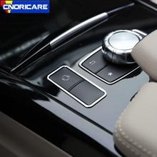 Автомобильная центральная консоль ES кнопки рамка Украшение Наклейка Накладка для Mercedes Benz E класс W212 CLS алюминиевый сплав модифицированный Стайлинг