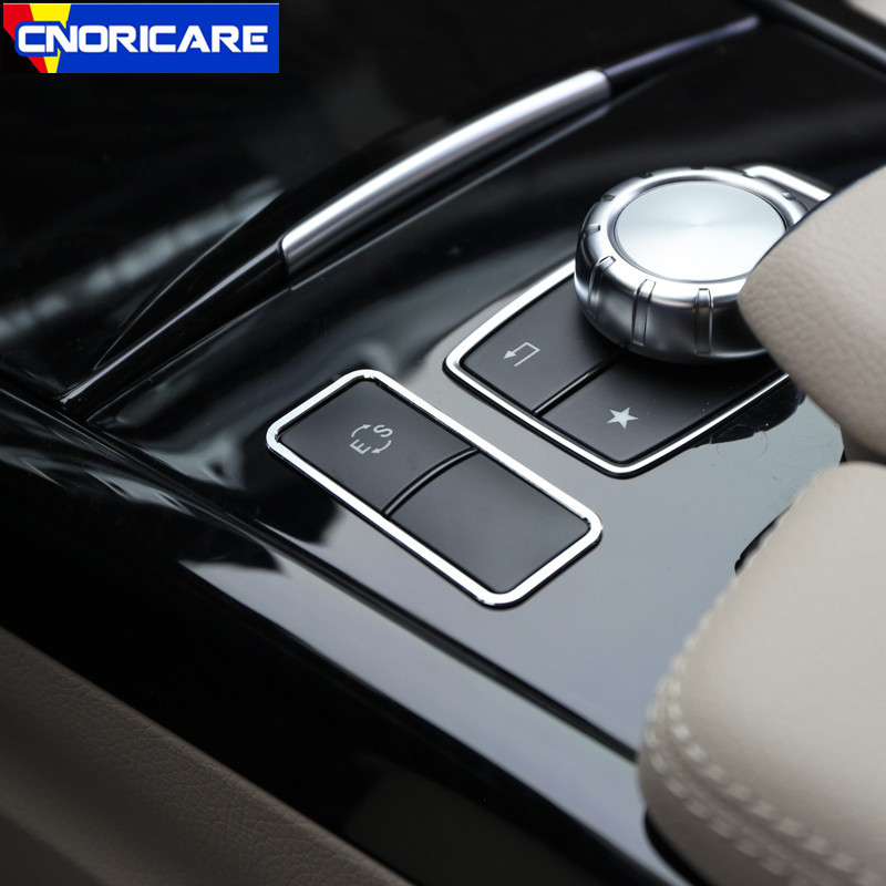 Car Center Console ES Buttons Frame Decoration Sticker Trim For Mercedes Benz E Class W212 CLS Aluminium Alloy Modified Styling