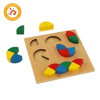 Montessori Material Math Geometry Jigsaw Puzzle Colorful Wooden Baby Toys Early Education Home Toy baby toy montessori material math introduction to decimal symbol wooden learning numbers early education children toy