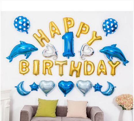 Fantastic Idea Aluminium FOIL BALLOONS WALL BACKGROUND DECORATION KITSHAPPY BIRTHDAY DECOR KIDS PARTY FL 06 In Party Backdrops From Home Garden On