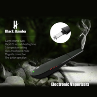 Electronic Vaporizers Kingtons Black Mamba Dry Herb Vaporizer Vapor Smoking Herbal Portable E Cigarrette Vaporeate Vape Pen
