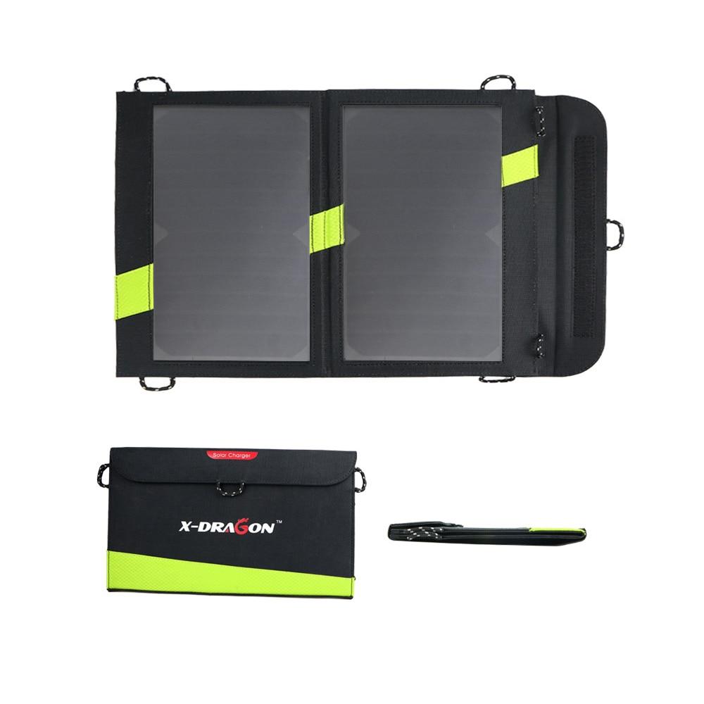 14 watt Solar Ladegerät 5 v 3A Dual USB Solar Panel Faltbare Wasserdicht Power Bank für Smartphone