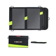 Panneau solaire 14 W Portable USB Panneau Solaire Chargeur pour iPhone 5 6 7 iPad Air iPad Pro Samsung Galaxy Téléphones et Tablettes.