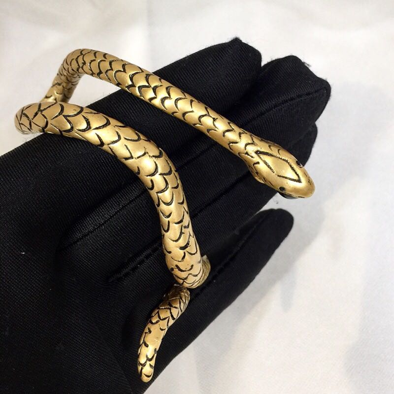 Vintage Gold Color Gem Stone Snake Open Cuff Bracelets Bangles Armlet Men Women Unique Gypsy Turkish India Party Jewelry adixyn dubai gold bangles fashion jewelry for women men gold color bangles bracelets african india middle east items free box