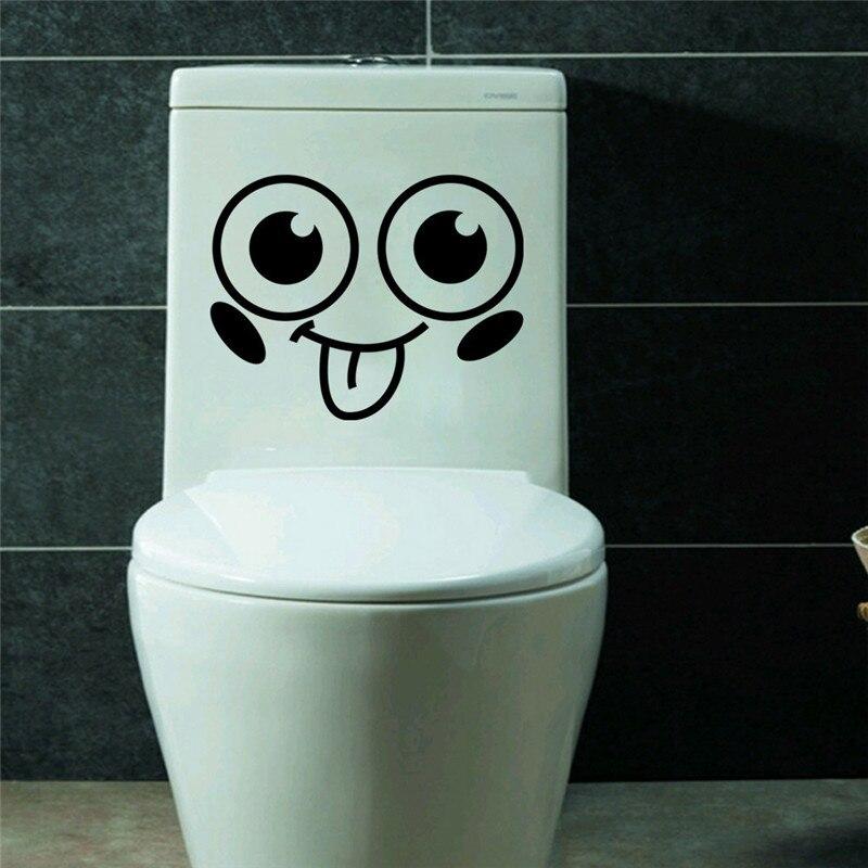 JJOVCE Lustige Design Lachelndes Gesicht Muster Wasserdicht Wc Aufkleber Nette Emoji Fur Kinder Madchen In