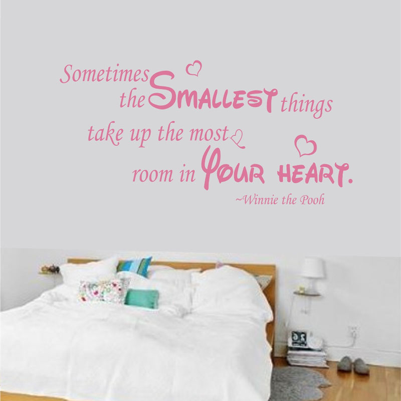 Winnie The Pooh And Piglet Nursery Wall Sticker As Soon I Saw You Adventure Quote Decor Decal