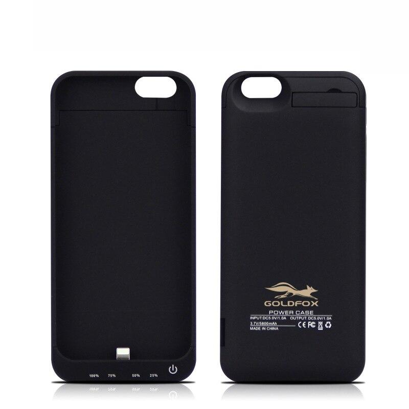 Pour iPhone 6 6 s Cas Power Bank 5800 Mah Externe Portable batterie Cas Pour iPhone6 6 S Extral Batterie Chargeur Cas de Charge couverture
