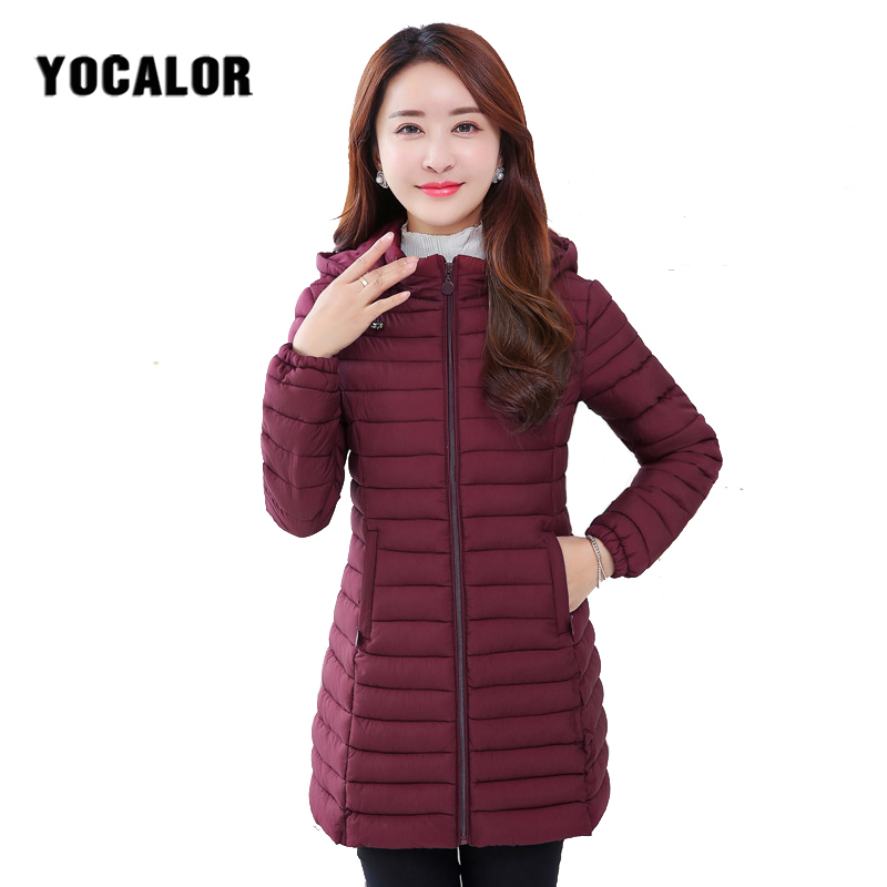 6XL Large Sizes Autumn Ladies Winter Female Coat Cotton Long Warm Quilted Jacket Women Plus Size Coats   Parka   Outerwear Hood Wear
