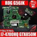 Inviare scheda + N56JK REV 2.0 con GTX850M/2 GB i7-4700HQ HM86 per ASUS N56JK Scheda Madre Del Computer Portatile N56JK G56JK mainboard 100% Testato