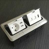 pop up electrical outlet floor socket HGD 3F with HDMI and RJ45 /factory promotion electric aluminum alloy cover floor box