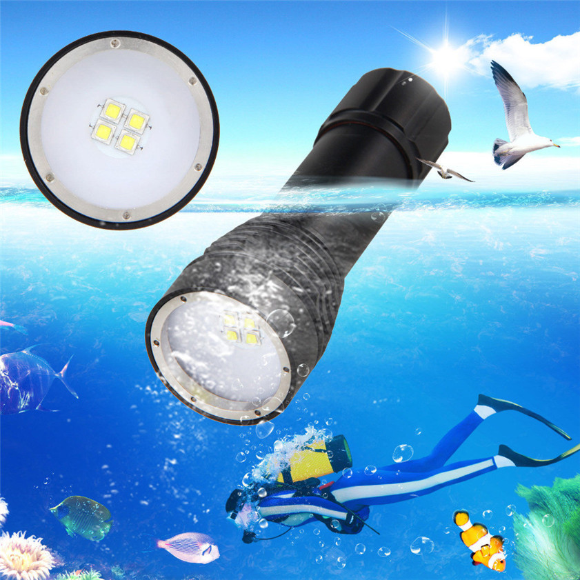 High Quality 8000LM 4x XML L2 LED Underwater 100M Scuba Diving Flashlight Torch 26650 Lamp купить