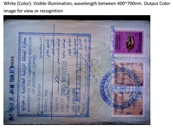 ce & fcc do varredor do passaporte
