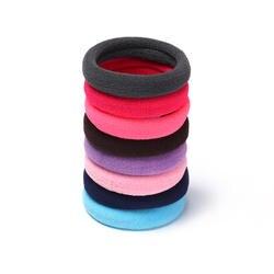 100 шт. украшения для волос Mix цветной каучук Scrunchie резинки для волос/галстуки/резинка для волос головная повязка, аксессуары для волос