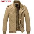 LONMMY Military Jackets mens Plus thick velvet Cotton coat Bomber jacket men Casaco masculino Men jacket coat Slim fit M-3XL