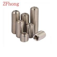 100PCS DIN916 Stainless Steel 304 M2 M2.5 M3 M4 M5 M6 allen head hex socket set screw grub screw(China (Mainland))