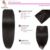 Onda del cuerpo Clip En Extensiones de Cabello Humano Color 1B Brasileño de la Virgen Clip En la Extensión del pelo 7 y 10 unids Clip En la Extensión Del Pelo Humano
