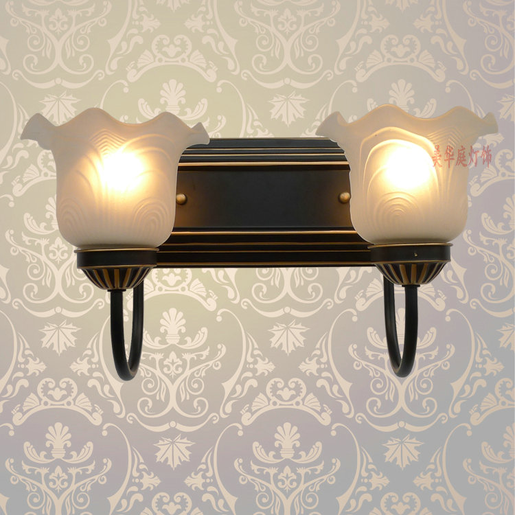 Shipping retro European style wall lamp corridor lamp bedside lamps simple double bedroom mirror light garden lighting B2- купить