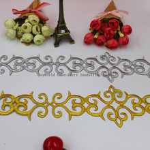 gold applique,gold embroidery fabric applique 3cm