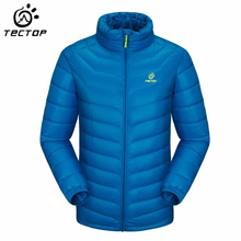 TECTOP  Men Camping Down Jacket Light Weight Windproof Thermal Outdoor Sport Hiking Jacket Duck Down Mountain Trekking Jacket