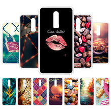 3D DIY For OnePlus 6 Case Silicone Lips Painted One Plus Soft Back Cover Fundas Coque Housing Bag