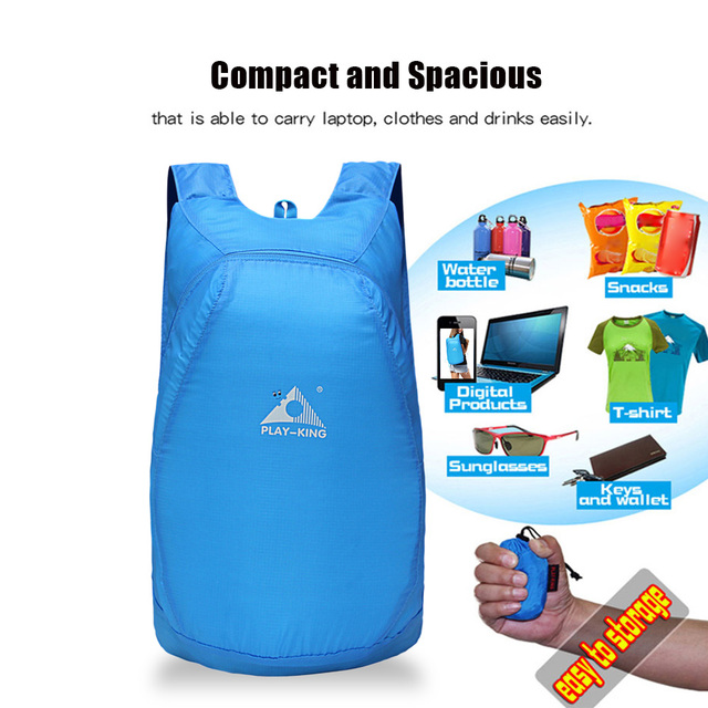 ff34301d6566 Waterproof Climbing Backpack Rucksack 20L Outdoor Sports Bag Foldable  Travel Camping Hiking Cycling Handy Trekking Daypack Bags