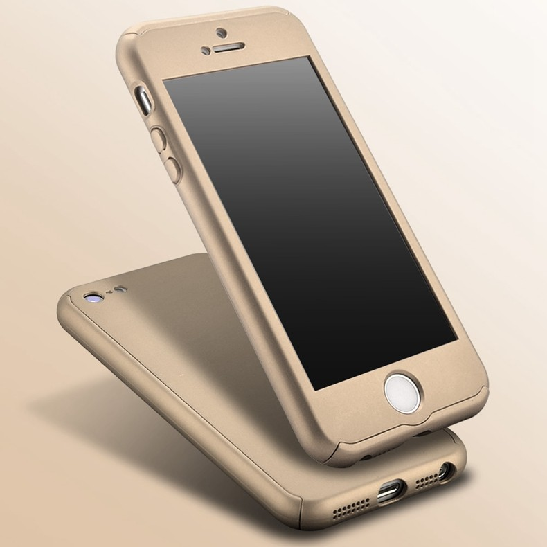 2ee91ddf1a9 5S SE Luxury Coverage of 360 Degree Hard PC Case For Apple iPhone 5 ...