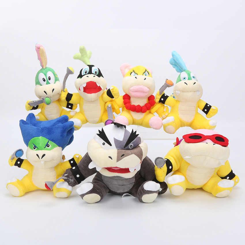 "3X Super Mario Koopalings Larry /& Iggy /& Wendy O Koopa Plush Toy Soft Bowser 6/"""