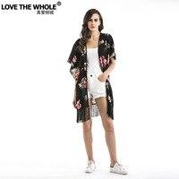 Lovethewhole 2018 Spring New Women S Clothing Floral Chiffon Shirt Beach Chiffon Blouse Chiffon Bat Sleeve